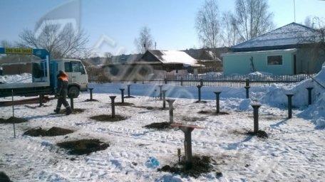 Монтаж свай под жилой дом п. Новоомский