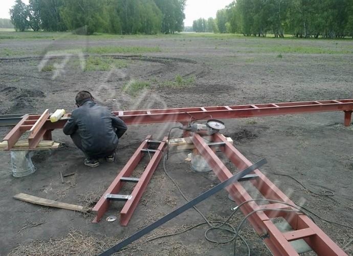 Коттедж п. Новая Ребровка(метал.обвязка)