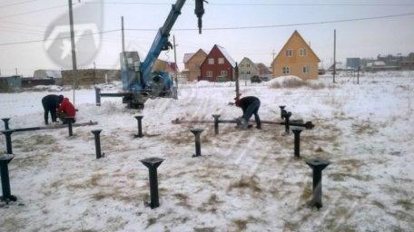 Монтаж свай под жилой дом Старый Кировск