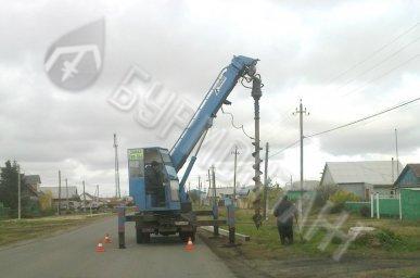 Монтаж опор для оптоволоконного кабеля с. Одесское, п. Марьяновка, г. Называевск