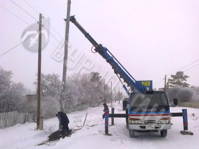 Монтаж опор Азовский район